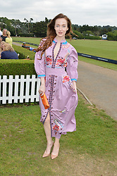 Olivia Grant at the Laureus King Power Cup polo match held at Ham Polo Club, Richmond, London England. 22 June 2017.<br /> Photo by Dominic O'Neill/SilverHub 0203 174 1069 sales@silverhubmedia.com