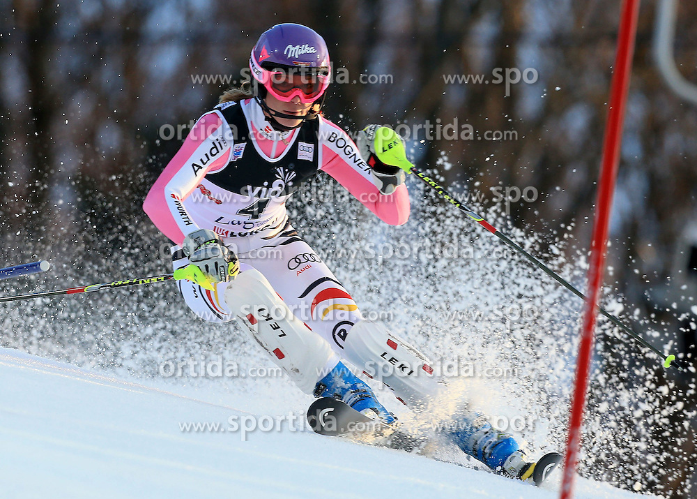 04.01.2013, Crveni Spust, Zagreb, AUT, FIS Ski Alpin Weltcup, Slalom, Damen, 1. Lauf, im Bild Maria Hoefl-Riesch (GER) // Maria Hoefl-Riesch of Germany in action during 1st Run of the ladies Slalom of the FIS ski alpine world cup at Crveni Spust course in Zagreb, Croatia on 2013/01/04. EXPA Pictures © 2013, PhotoCredit: EXPA/ Pixsell/ Jurica Galoic..***** ATTENTION - for AUT, SLO, SUI, ITA, FRA only *****