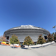A general view of MetLife Stadium at the Meadowlands Sports Complex in East Rutherford, New Jersey. The 82,566 capacity stadium is home to the New York Jets and New York Giants and the 2014 host of Super Bowl XLVIII.  East Rutherford, New Jersey. USA. 20th October 2013. Photo Tim Clayton