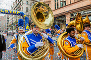 Angelo State University Ram Band - The New Years Day parade passes through central London.