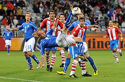 Football - soccer: FIFA World Cup South Africa 2010, Italy (ITA) - Paraguay (PRY), UNA ACROBAZIA DI SIMONE PEPE