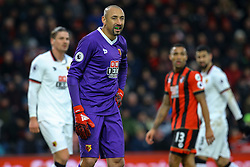 Heurelho Gomes of Watford standing in preparation - Mandatory by-line: Jason Brown/JMP - 21/01/2017 - FOOTBALL - Vitality Stadium - Bournemouth, England - Bournemouth v Watford - Premier League