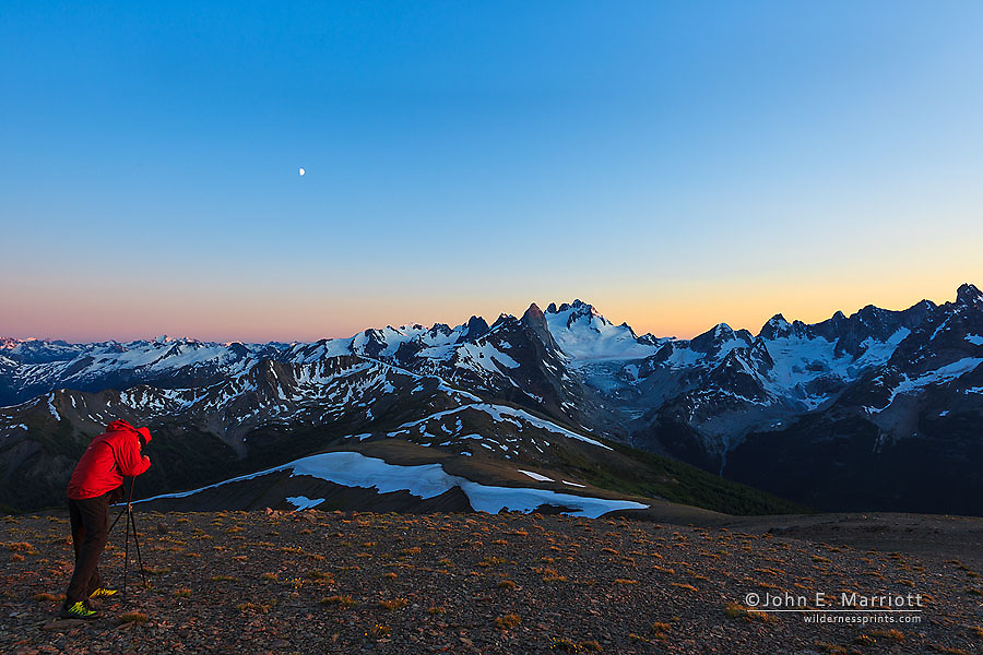 Landscape photographer in Bugaboo Provincial Park, B.C.