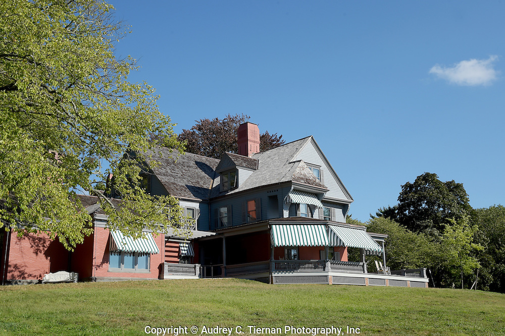 Oyster Bay, NY,  September 14, 2015: ---   Sagamore Hill was the home of the 26th president of the United States, Theodore Roosevelt. The home recently underwent a ten million dollar renovation.  © Audrey C. Tiernan