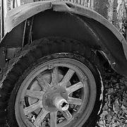 Wood Spoke Wheel International Truck - Motor Transport Museum - Campo, CA - Infrared Black & White