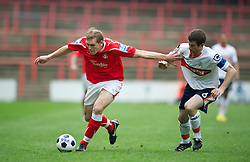 WREXHAM, WALES - Monday, May 7, 2012: Wrexham's Danny Wright in action against Luton Town during the Football Conference Premier Division Promotion Play-Off 2nd Leg at the Racecourse Ground. (Pic by David Rawcliffe/Propaganda)