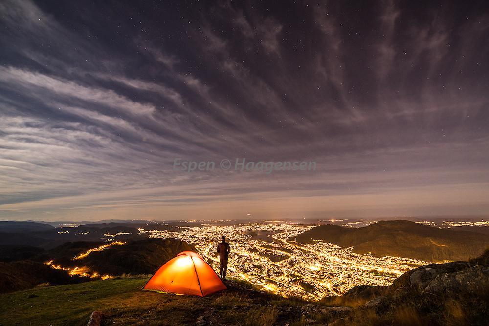 Camping at Ulriken.