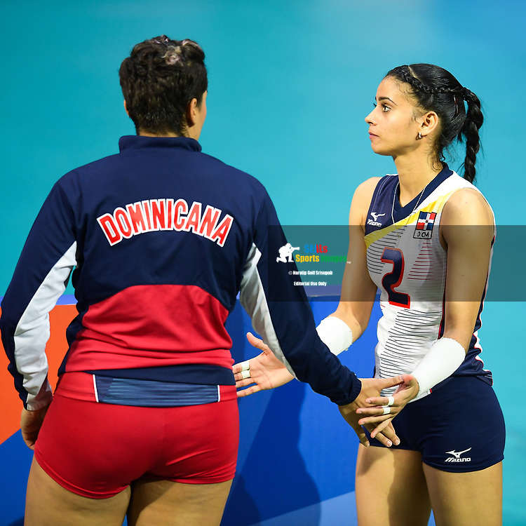 BANGKOK, THAILAND - MAY 30: Winifer Maria Fernandez Perez #2 of Dominican Republic on Day 2 match between Dominican Republic vs USA at the FIVB Volleyball Nation League 2018, Indoor Stadium Huamark, Bangkok, Thailand on May 30, 2018. <br /> .<br /> .<br /> .<br /> (Photo by: Naratip Golf Srisupab/SEALs Sports Images)<br /> .<br /> Any image use must include a mandatory credit line adjacent to the content which should read: Naratip Golf Srisupab/SEALs Sports Images