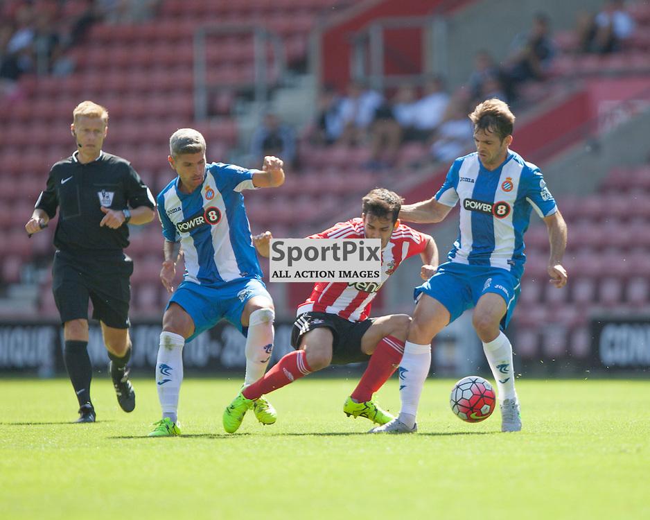 Juanmi holding off possession <br /> <br /> Southampton F.C. Vs Espanyol, Pre Season Friendly, 2nd August 2015