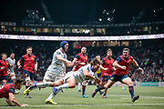 Dimitri SZARZEWSKI (Racing Metro 92) scored a try during the European Rugby Champions Cup, Pool 4, Rugby Union match between Racing 92 and Munster Rugby on January 14, 2018 at U Arena stadium in Nanterre, France - Photo Stephane Allaman / ProSportsImages / DPPI