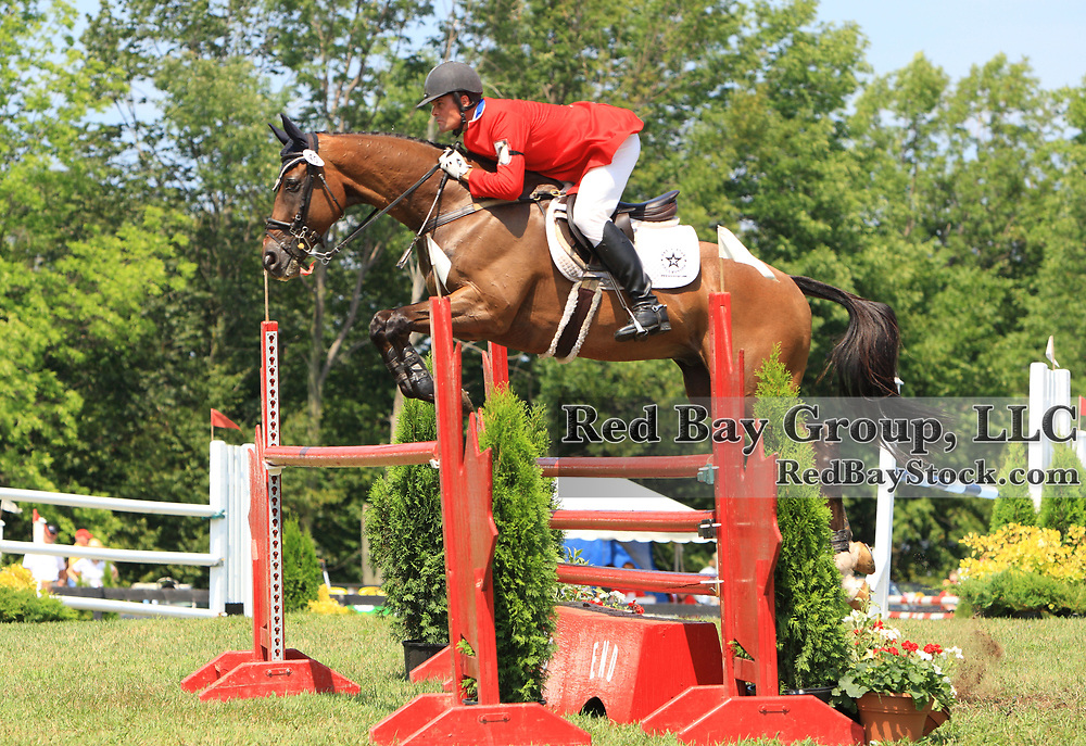 Kyle Carter and Madison Park at the 2009 Wits End Horse Trials and HSBC FEI World Cup Qualifier in Mansfield, Ontario.