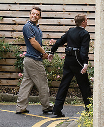 © licensed to London News Pictures. Oxford, UK.  File picture dated 06/09/2011. Grinning Ensar Gol arriving at Oxford Magistrates court. Gol is due to appear for a hearing at Oxford Crown Court today (04/11/2011) charged murdering his 28 year-old wife Michala Gol and his 50 year-old mother-in-law Julie Sahin at their home in Thame, Oxfordshire. Photo credit should read Ben Cawthra/LNP