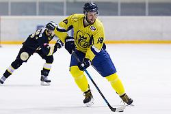 Niko Nemecek #68 of HK ECE Celje during Inter National League ice hockey match between HK Playboy Slavija and HK ECE Celje, on September 30, 2015, in Ledena Dvorana Zalog, Ljubljana, Slovenia. Photo by Urban Urbanc / Sportida