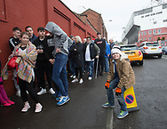 Dundee United fans queued for up to two hours to get tickets for the Ladbrokes Scottish Premiership play off semi final ties against Falkirk at Dundee United ticket office, Tannadice Street, Dundee, Photo: David Young<br /> <br />  - &copy; David Young - www.davidyoungphoto.co.uk - email: davidyoungphoto@gmail.com