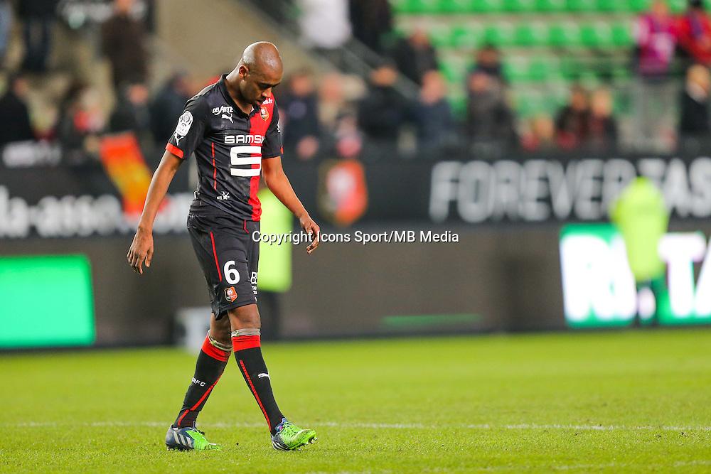 Deception Gelson FERNANDES  - 25.01.2015 - Rennes / Caen  - 22eme journee de Ligue1<br /> Photo : Vincent Michel / Icon Sport *** Local Caption ***