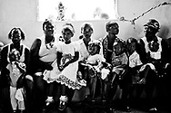 Earthquake in Haiti 2010,<br /> People are waiting to see a doctor inside a church.
