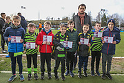 CEO Henry Staelens with school group during the EFL Sky Bet League 2 match between Forest Green Rovers and Walsall at the New Lawn, Forest Green, United Kingdom on 8 February 2020.