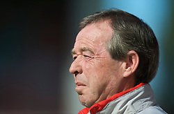WREXHAM, WALES - Saturday, October 10, 2009: Wales' manager Brian Flynn during the UEFA Under-21 Championship Qualifying Round Group 3 match against Bosnia-Herzegovina at the Racecourse Ground. (Pic by Chris Brunskill/Propaganda)