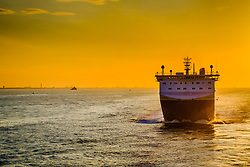 DFDS Seaways mv Corona Seaways in the Humber Estuary at sunset<br /> <br /> (c) Andrew Wilson | Edinburgh Elite media