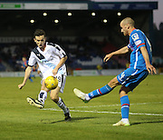 Dundee&rsquo;s Paul McGinn and Inverness&rsquo; James Vincent - Inverness Caledonian Thistle v Dundee at Caledonian Stadium, Inverness<br /> <br />  - &copy; David Young - www.davidyoungphoto.co.uk - email: davidyoungphoto@gmail.com