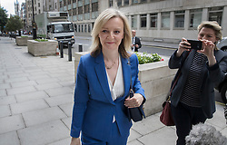 © Licensed to London News Pictures. 14/07/2016. London, UK. Newly appointed Secretary of State for Justice Liz Truss arrives at her Ministry as Prime Minister Theresa May continues to make cabinet appointments on her first full day in office. Photo credit: Peter Macdiarmid/LNP