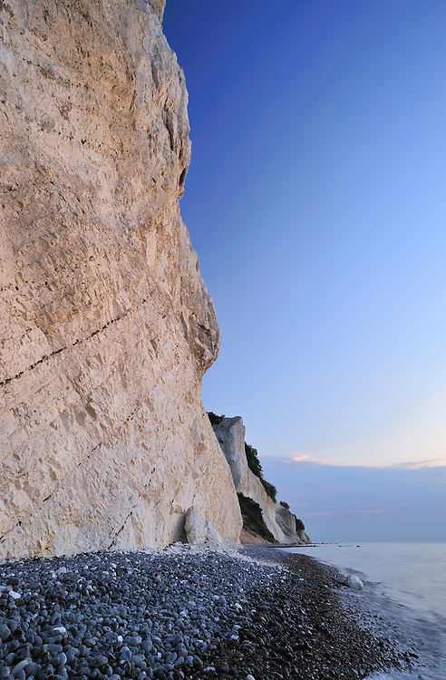 Chalk cliffs Nellerendefald and Tragten - Møns Klint, Denmark