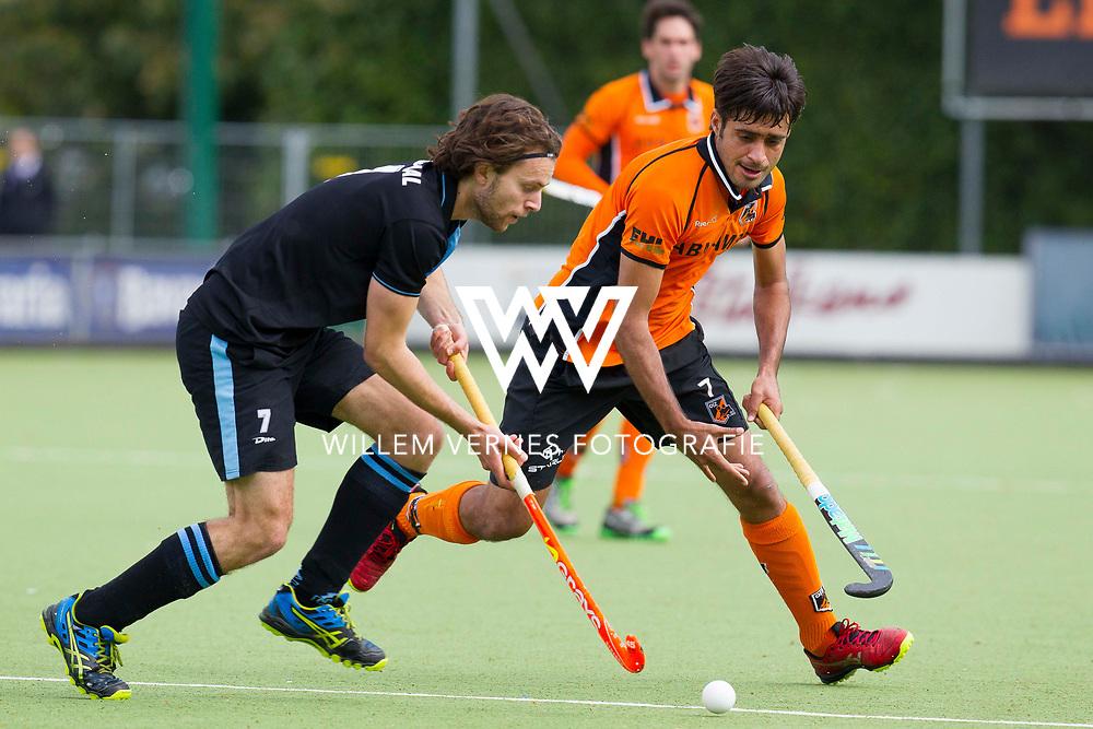 Eindhoven - OZ - HGC Heren, Hoofdklasse Hockey Heren, Seizoen 2015-2016, 30-04-2016, OZ - HGC, Tom Hiebendaal en Rizwan Muhammad