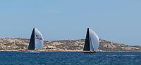From Left to Right: RYOKAN 2, LYRA, Rolex Maxi Cup 2017, Costa Smeralda, Porto Cervo Yacht Club Costa Smeralda (YCCS).