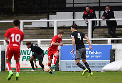 Cameron Pring of Bristol City shoots under the watchful eye of Bristol City Director of Recruitment Brian Tinnion - Mandatory by-line: Paul Knight/JMP - 16/02/2017 - FOOTBALL - Twerton Park - Bath, England - Bristol City U23 v Southampton U23 - Premier League 2 Cup