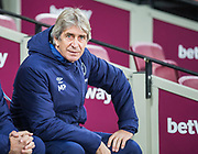 Manuel Pelligrini, Manager of West Ham FC during the Premier League match between West Ham United and Arsenal at the London Stadium, London, England on 9 December 2019.