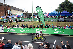 Abby-Mae Parkinson (GBR) of Drops Cycling Team rides on the front on Stage 1 of 2019 OVO Women's Tour, a 157.6 km road race from Beccles to Stowmarket, United Kingdom on June 10, 2019. Photo by Balint Hamvas/velofocus.com