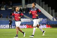 Isaac Kiese THELIN / Thomas TOURE  - 24.01.2015 - Bastia / Bordeaux  - 22eme journee de Ligue1<br /> Photo : Michel Maestracci / Icon Sport