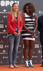(R) Serena Williams and Victoria Azarenka during the presentation of the Mutua Madrid Open tournament, Madrid. Spain, on 02 May 2013, 03 May 2013. Photo by: Belen D. / DyD Fotografos / i-Images...SPAIN OUT