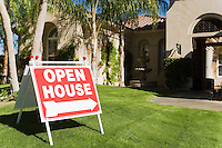Open House Sign in Front Yard