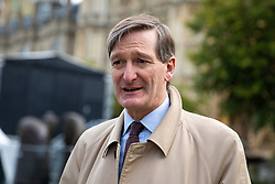 © Licensed to London News Pictures. 18/10/2019. London, UK. Conservative MP Dominic Grieve speaks to media this morning. Yesterday, British Prime Minister Boris Johnson agreed a Brexit deal with the EU. Photo credit : Tom Nicholson/LNP