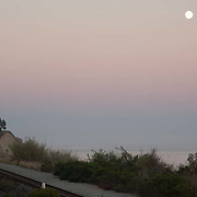 Moonrise on the beach of Carpinteria, CA.
