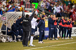 United States forward Jozy Atidore (9).  The United States men's soccer team defeated the Mexican national team 2-0 in CONCACAF final group qualifying for the 2010 World Cup at Columbus Crew Stadium in Columbus, Ohio on February 11, 2009.
