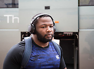 Ox Nche of Cheetahs arrives at the stadium<br /> <br /> Photographer Simon King/Replay Images<br /> <br /> Guinness PRO14 Round 2 - Ospreys v Cheetahs - Saturday 8th September 2018 - Liberty Stadium - Swansea<br /> <br /> World Copyright © Replay Images . All rights reserved. info@replayimages.co.uk - http://replayimages.co.uk