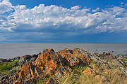 Shoreline along the Gulf of St. Lawrence<br /><br />Quebec<br />Canada