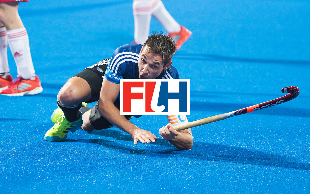 Odisha Men's Hockey World League Final Bhubaneswar 2017<br /> Match id:14<br /> England v Argentina , Quater Final<br /> Foto: Matias Paredes (Arg) scored and celebrates the goal <br /> WSP COPYRIGHT KOEN SUYK