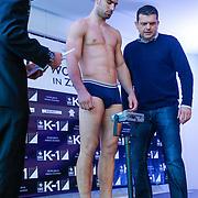 CRO/Zagreb/20130314- K1 WGP Final Zagreb, weging vd deelnemers,