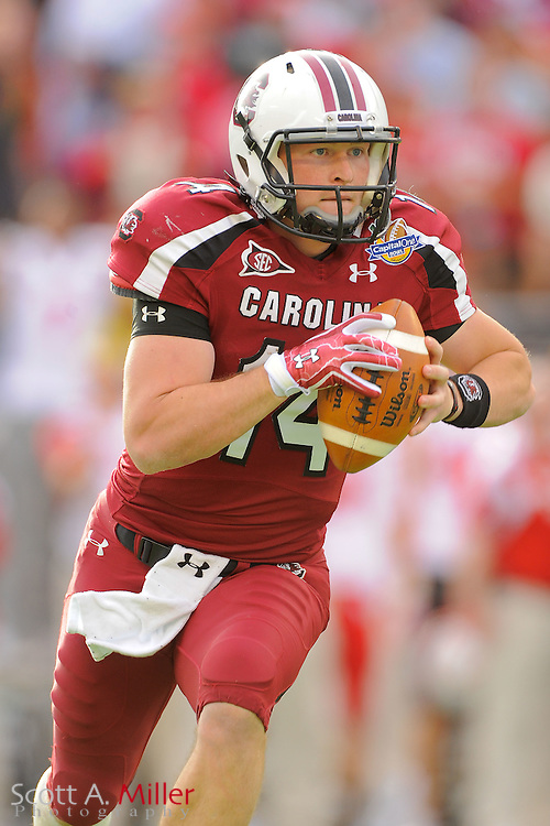 South Carolina Gamecocks quarterback Connor Shaw (14) during the Capital One Bowl against the Nebraska Cornhuskers at Florida Citrus Bowl on Jan. 2, 2012 in Orlando, Fla. South Carolina won 30-13...©2012 Scott A. Miller