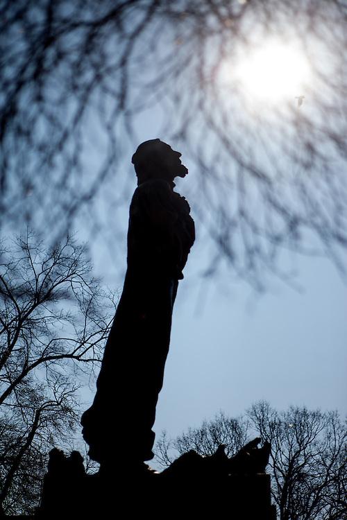 Das Jan Hus Denkmal in Tabor.