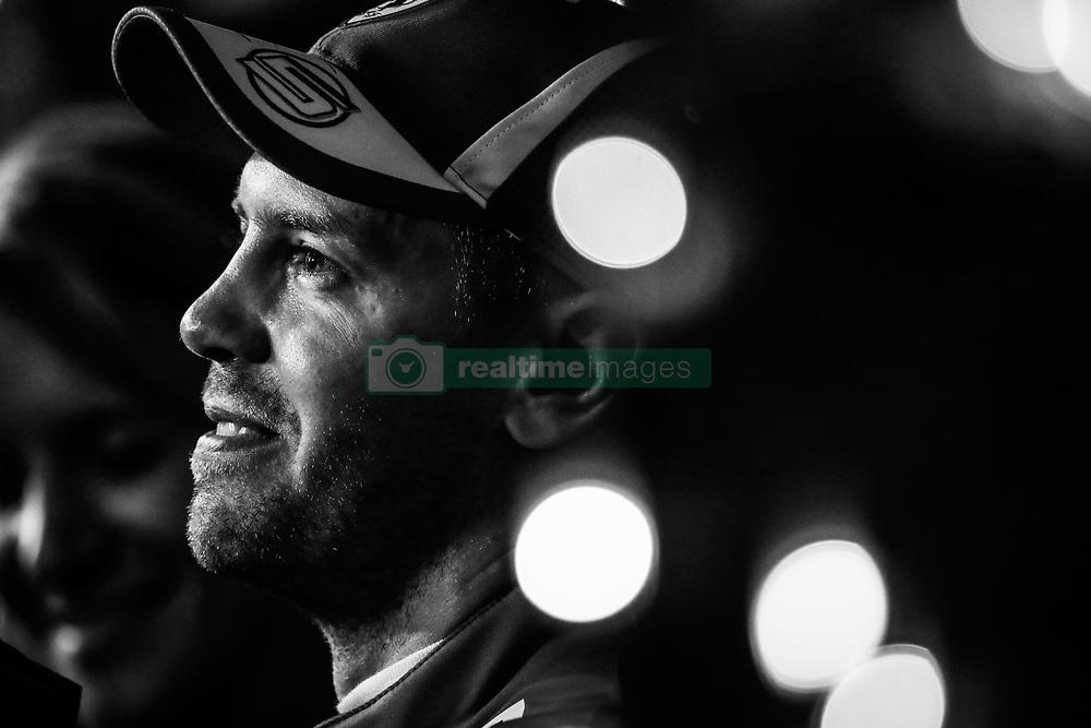 April 7, 2018 - Sakhir, Bahrain - VETTEL Sebastian (ger), Scuderia Ferrari SF71H, portrait during 2018 Formula 1 FIA world championship, Bahrain Grand Prix, at Sakhir from April 5 to 8  (Credit Image: © Hoch Zwei via ZUMA Wire)