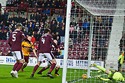 Curtis Main is credited with last minute goal during the Ladbrokes Scottish Premiership match between Heart of Midlothian and Motherwell at Tynecastle Stadium, Gorgie, Scotland on 27 January 2018. Photo by Kevin Murray.