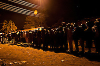 In Kibera, Nairobi's largest slum which went up in flames and was one of the worst hit areas during the 2008 post-election violence, many voters waited in line  as early as one or two in the morning.