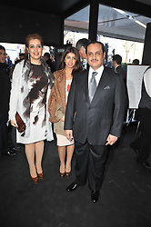 Left to right,  Heba Al Kharafi, Fay Al Kharafi, and Loay Al Kharafi at the launch of One Hyde Park, The Residences at Mandarin Oriental, Knightsbridge, London on 19th January 2011.