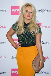 Emily Atack arrives at Fearne Cotton's runway show for Very.co.uk. London, <br /> To Kick off London Fashion Week, Fearne Cotton launches her SS14 fashion collection for Very.co.uk with runway show,<br /> United Kingdom. Thursday, 12th September 2013. Picture by Chris Joseph / i-Images
