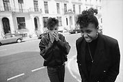 Ann and Sonia,London,UK. 1980s.