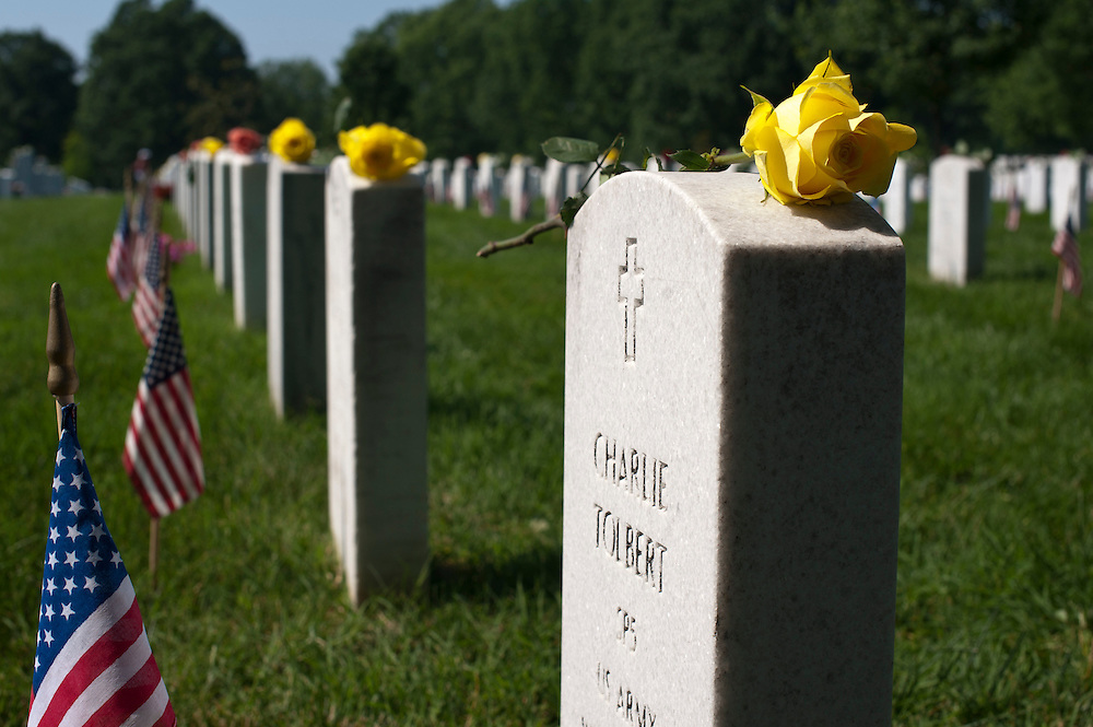 Scenes from Section 60 at Arlington National Cemetery on Memorial Day 2011.
